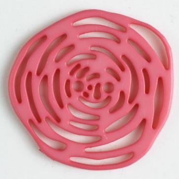 Dill Buttons 346624 pink rosette