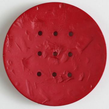 60mm Monogram Button Red