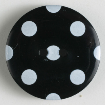 Dill Buttons 330766 black with white dots