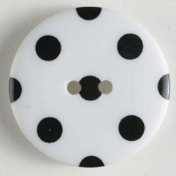 Dill Buttons 330764Wht. with blk dot