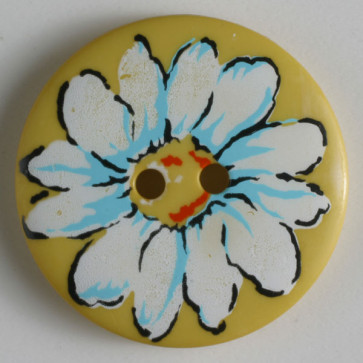 Dill button 34mm round daisy