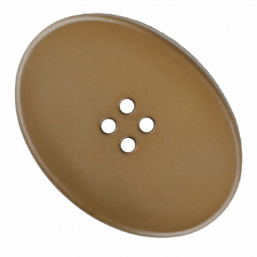 polyamide button oval with four holes - Size: 38mm - Color: beige