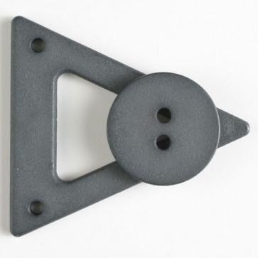 Dill Triangle 70mm Closure Button - Steel Gray