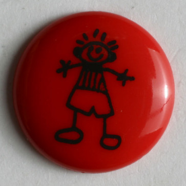 Novelty Button - 15 mm - Red
