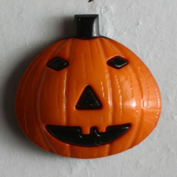 N- Button Jack O Lantern/Pumpkin Orange