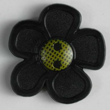 Dill Buttons Children Button Flower Black