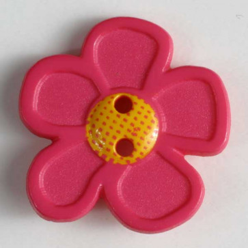 novelty button - Size: 20mm - Color: pink