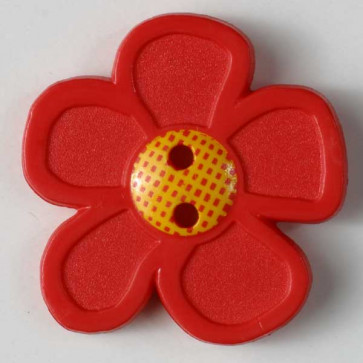 Dill button red flower 28mm