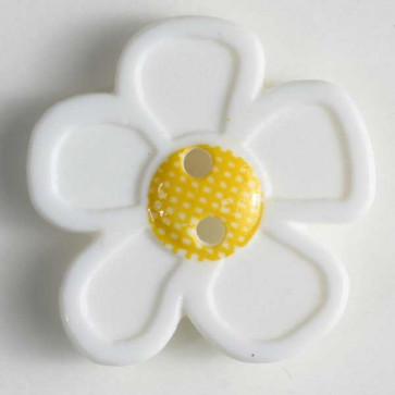 novelty button - Size: 20mm - Color: white