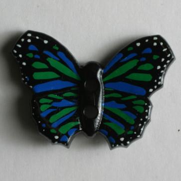 novelty button - Size: 28mm - Color: black