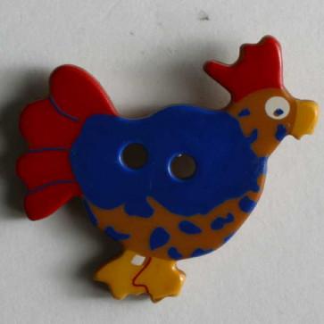 Brown Chicken Button