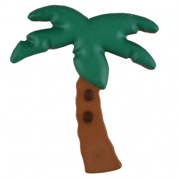 palm tree with 2 holes - Size: 25mm - Color: green