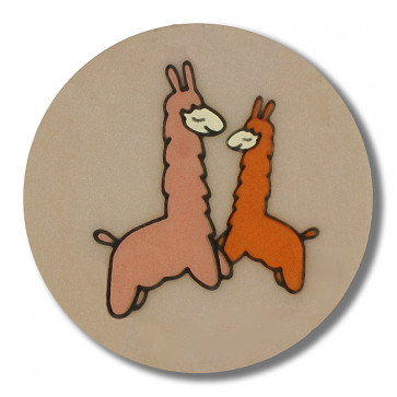 lama with shank - Size: 18mm - Color: beige