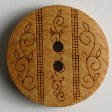 Dill Button Wood Brown