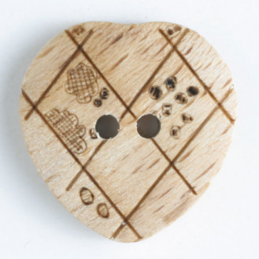 wood button - Size: 23mm - Color: brown