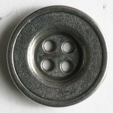 N- Button Full Metal Antique Silver