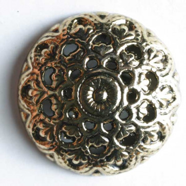 N- Button Metal Antique Gold