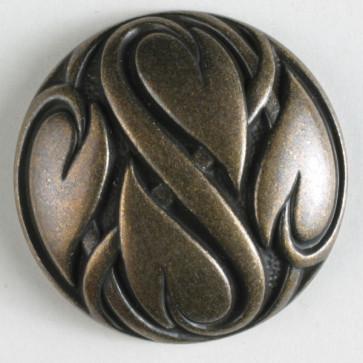 N- Button Metal Antique Brass 20mm