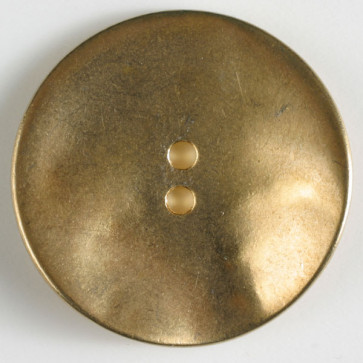 full metal button - Size: 28mm - Color: dull gold