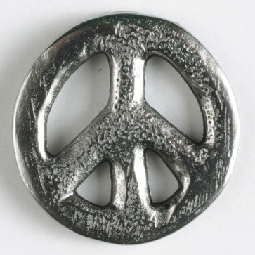 Dill Buttons 330712 31 Silver Peace Sign