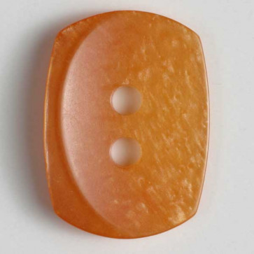 15 MM Orange Rectangular 2 Hole Button