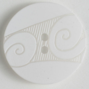 Button Scroll White 18MM