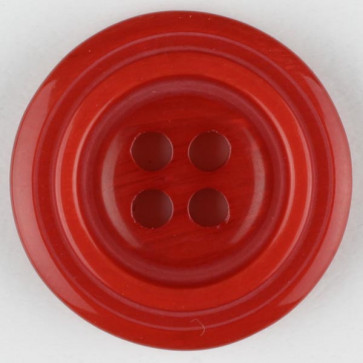 N- Button Polyester Red