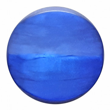polyesterbutton with shank pearlimitation mat - Size: 20mm - Color: royal blue