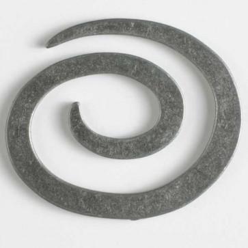 N- Button Metal Spiral Antique Tin