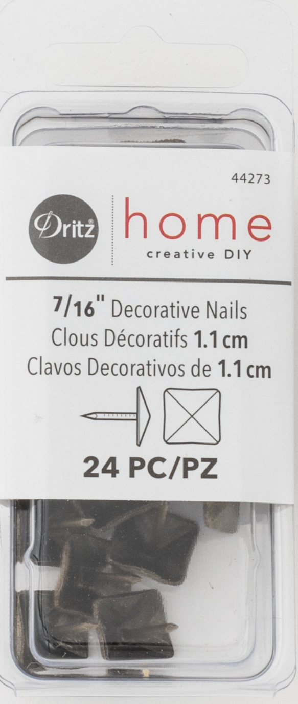 DZ44273 Decorative Nails, Antique Brass