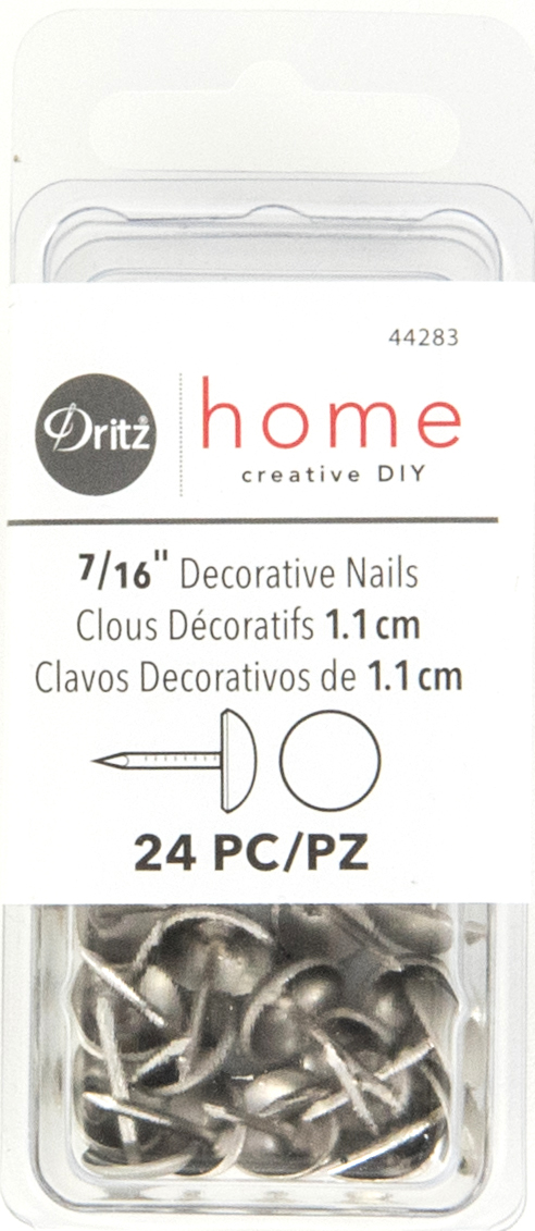 DZ44283 Decorative Nails, Brushed Silver