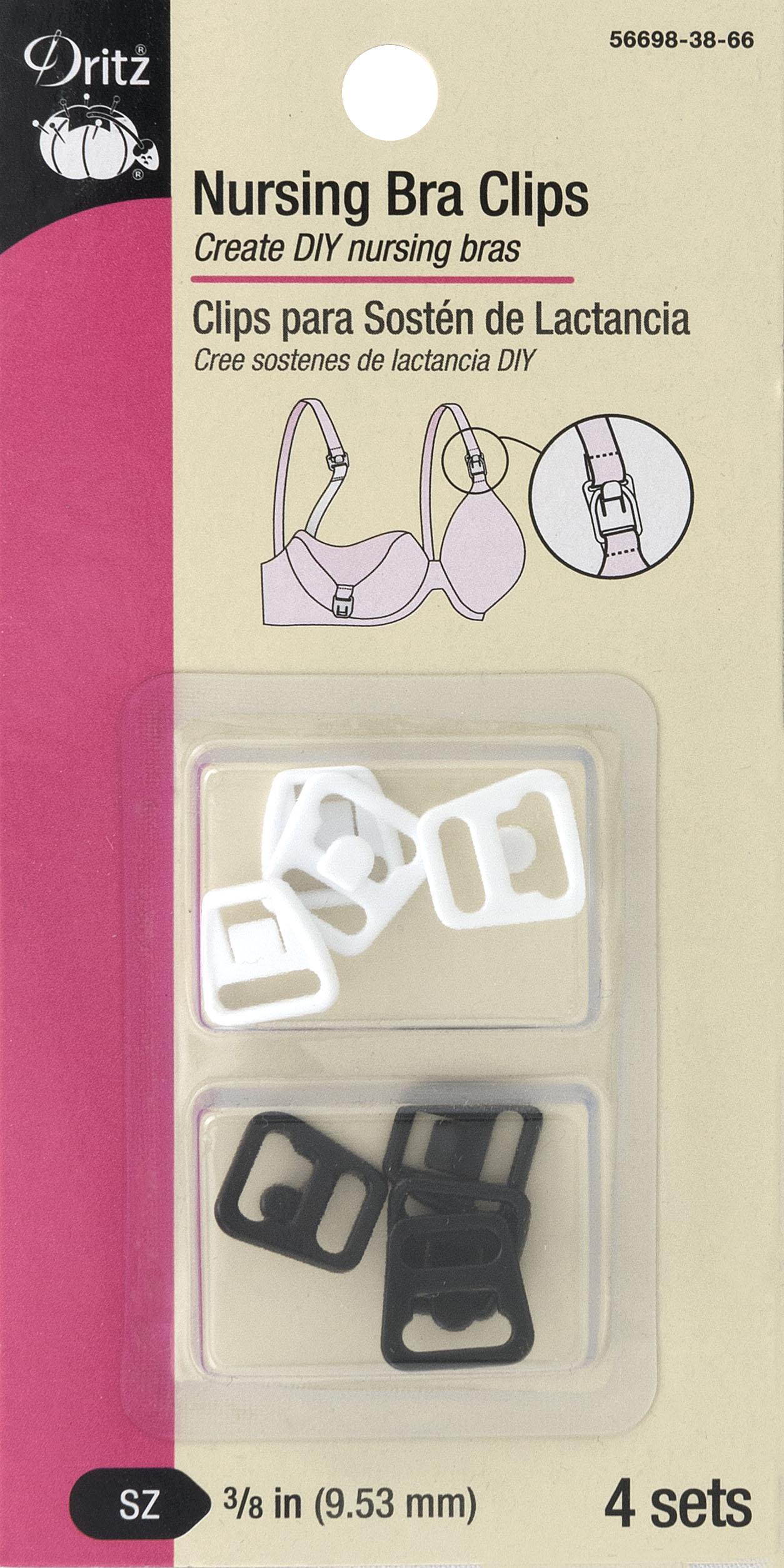 Dritz - Nursing Bra Clips - 3/8 (4 sets)