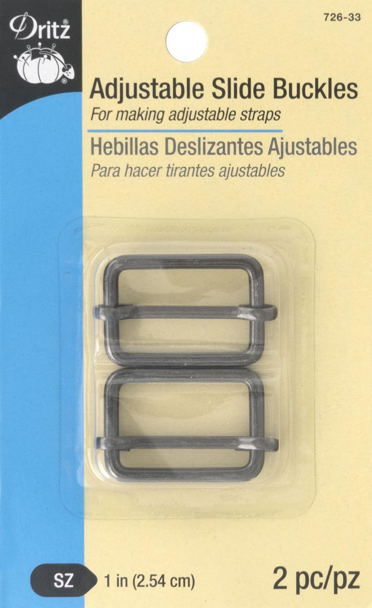 Adjustable Slide Buckles, gunmetal-726-33