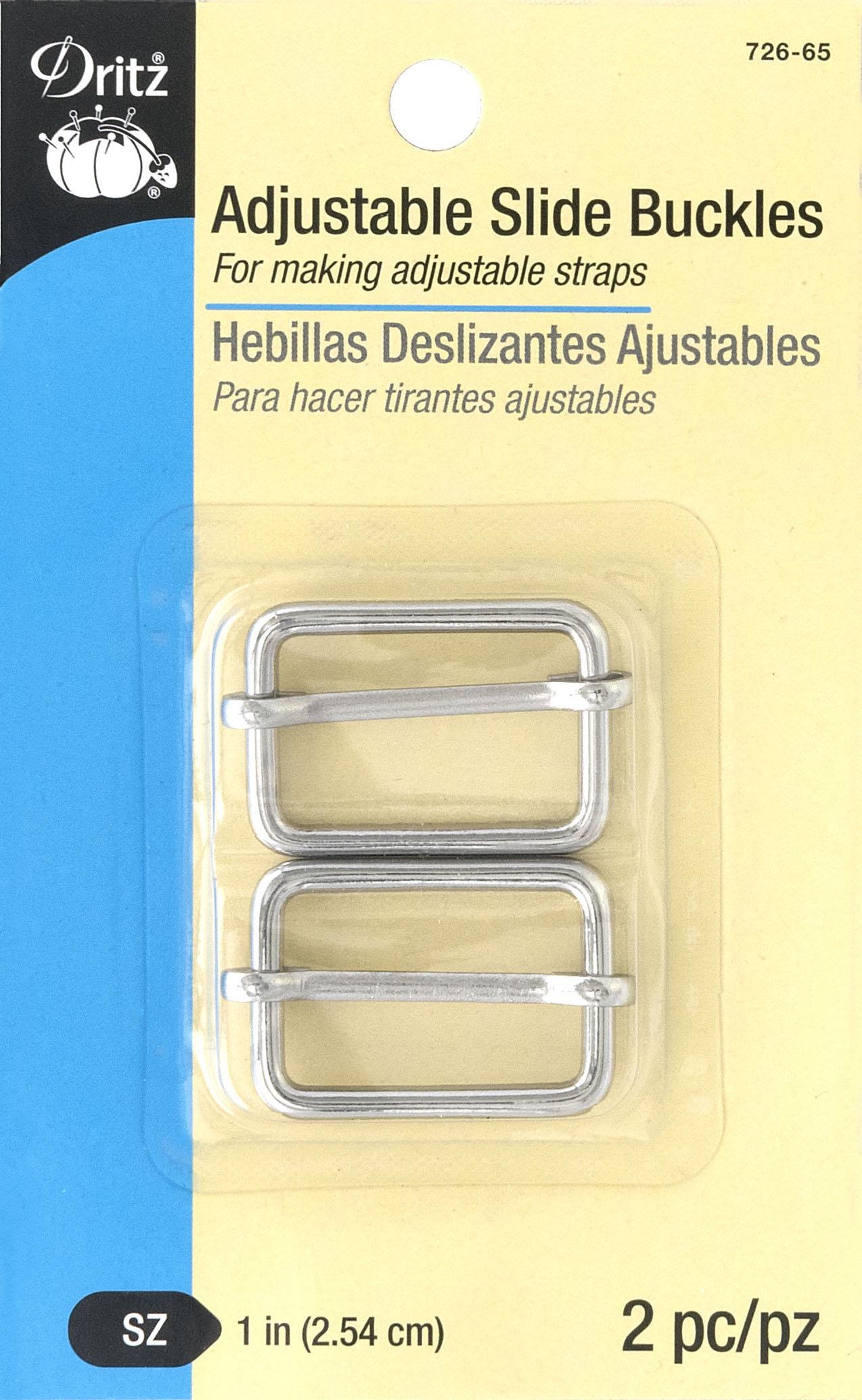 Adjustable Slide Buckles, nickel-726-65