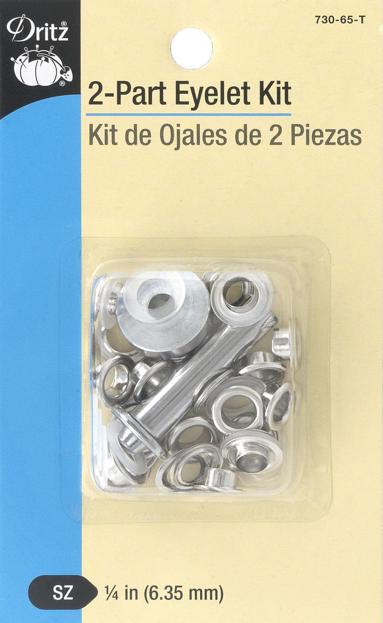 2-Part Eyelet Kit Nickel-730-65-T