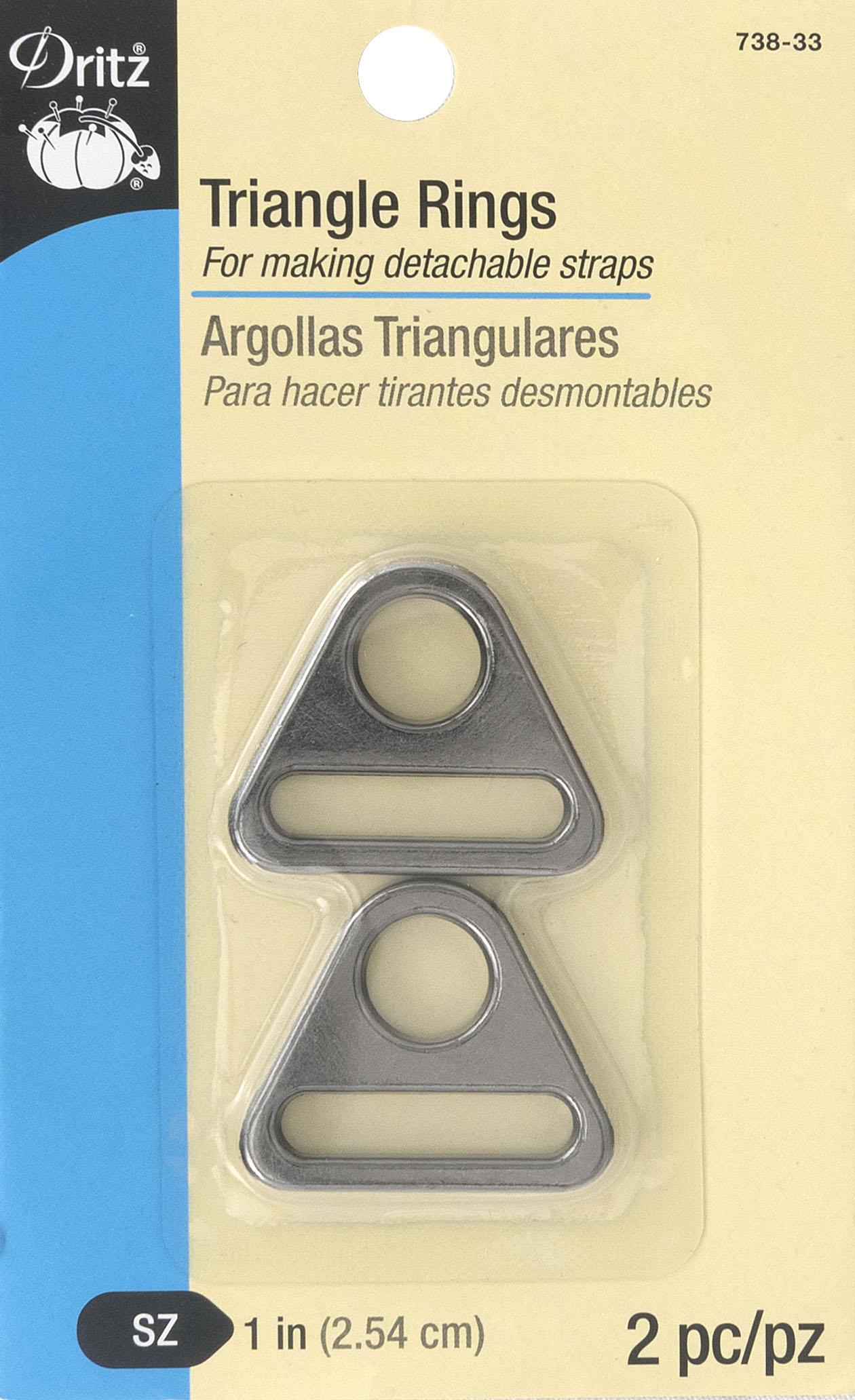 Triangle Rings, gunmetal-738-33