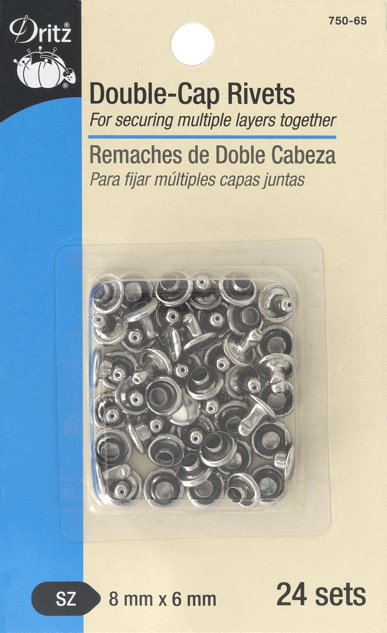 DRITZ Double-Cap Rivets Nickel-750-65