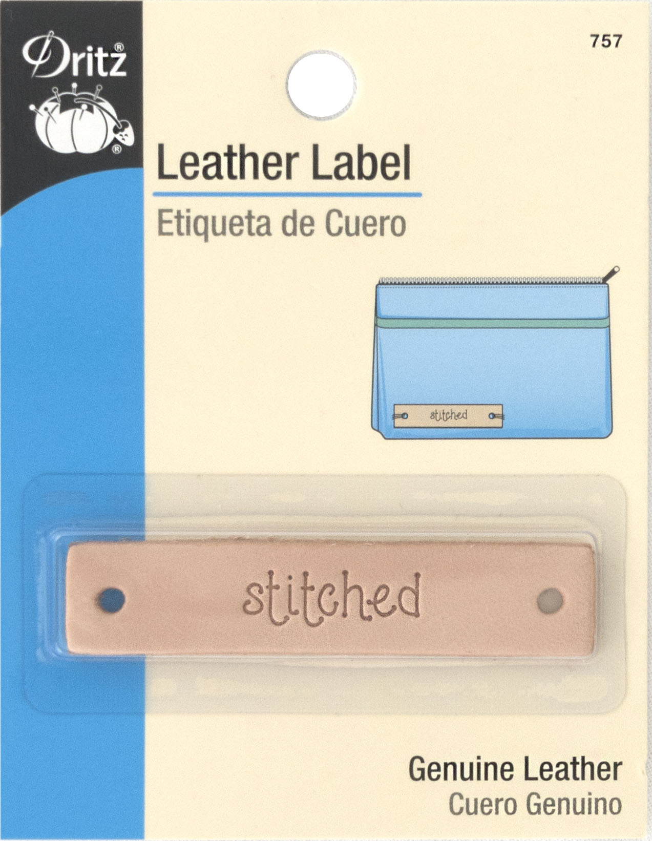 Dritz - Leather Labels Stitched