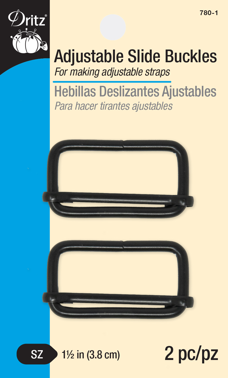 Adjustable Slide Buckles - Black-780-1