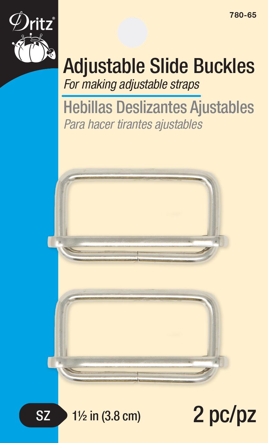 Adjustable Slide Buckles - Nickel-780-65
