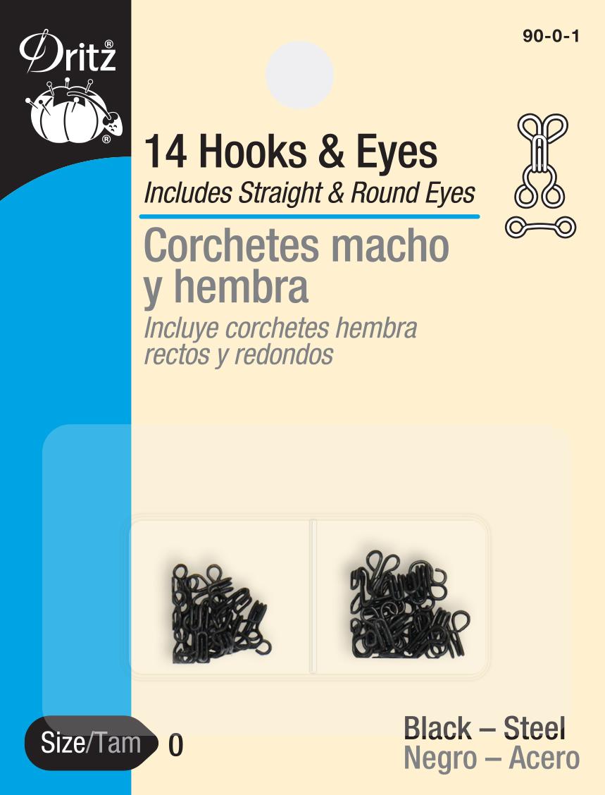 Hooks & Eyes Black