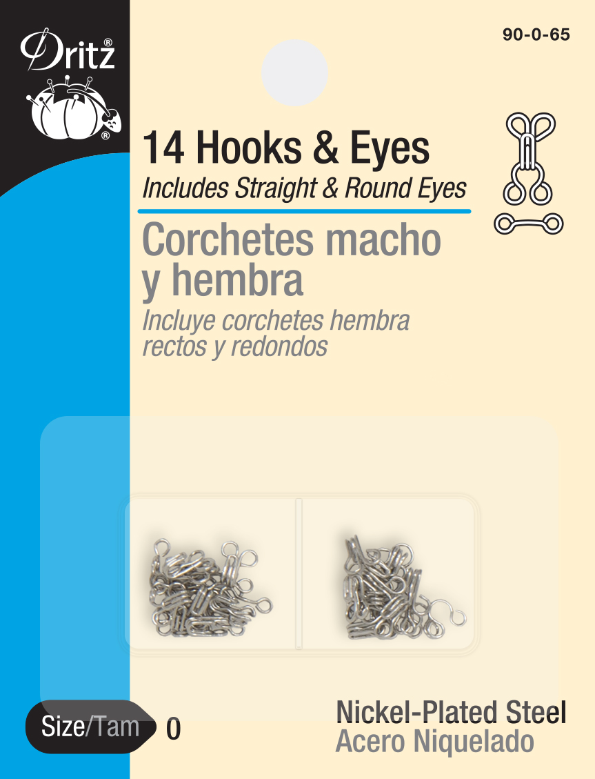 Hooks & Eyes Nickel