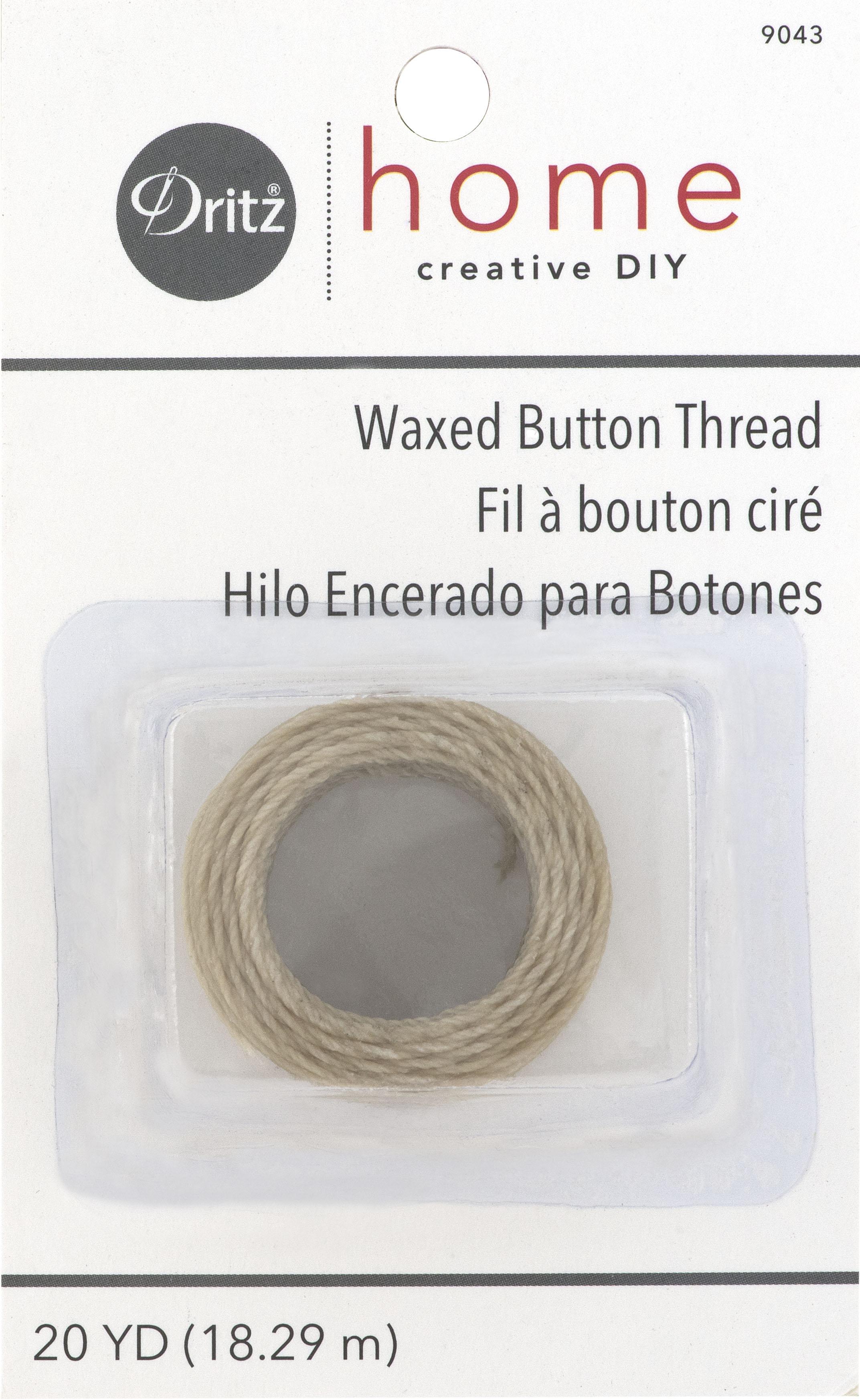 Dritz Waxed Button Thread Natural