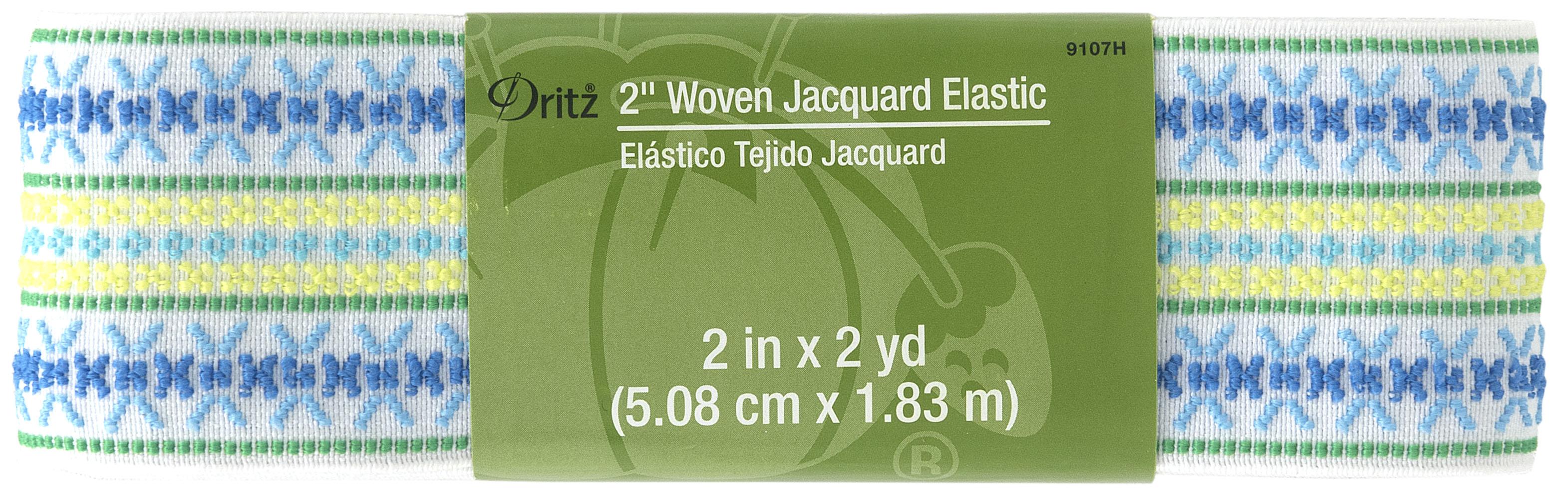2x2yd Woven Jacquard Elastic White