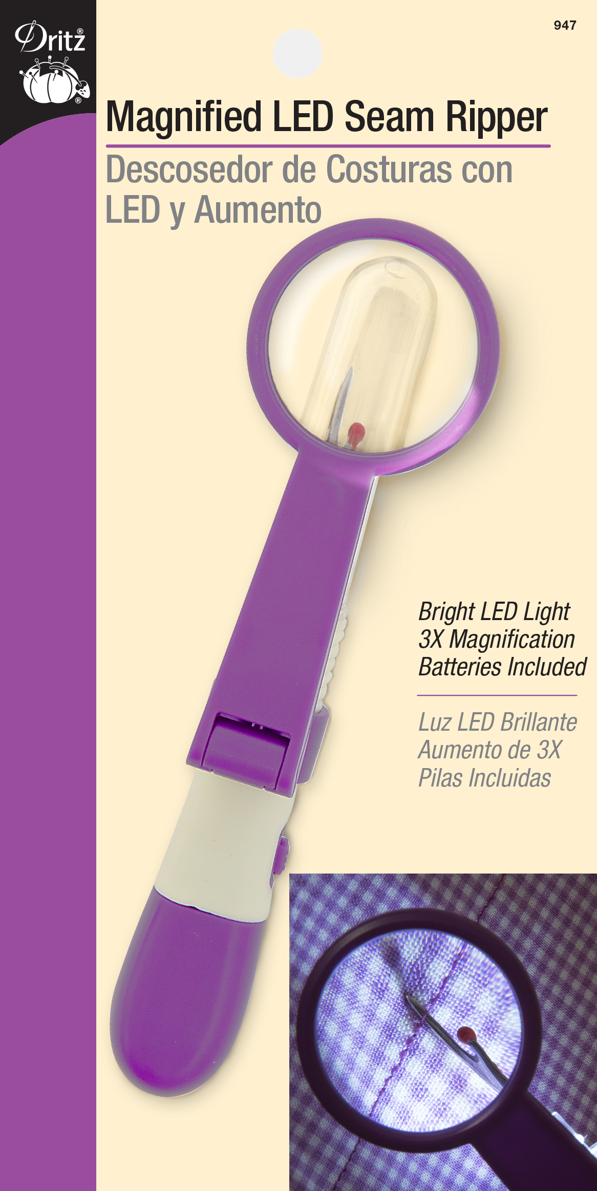 Magnified LED Seam Ripper