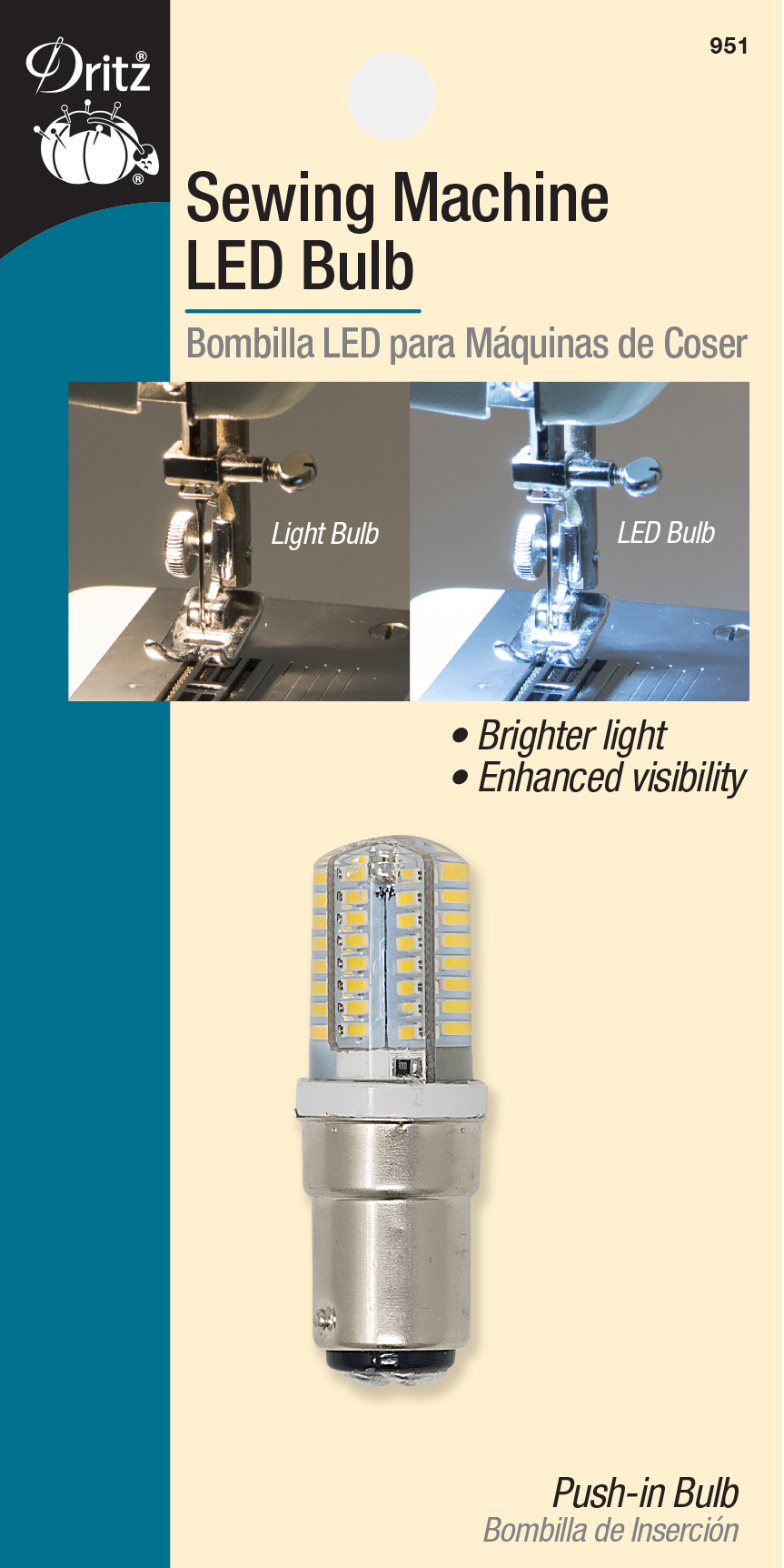 MACHINE BULB LED PUSH IN