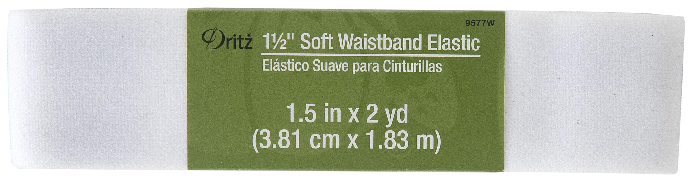 Dritz - 1 1/2in x 2yds Inch Soft Waistband Elastic White