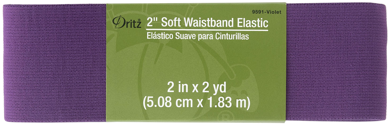 Soft Waistband Elastic - 2 x 2yds - Violet
