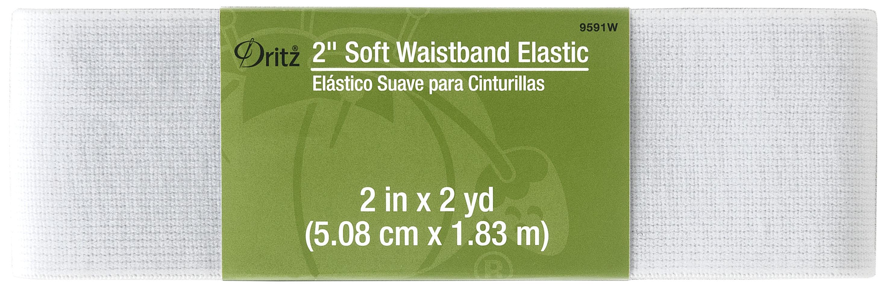 2x2yrds Soft Waistband Elastic White
