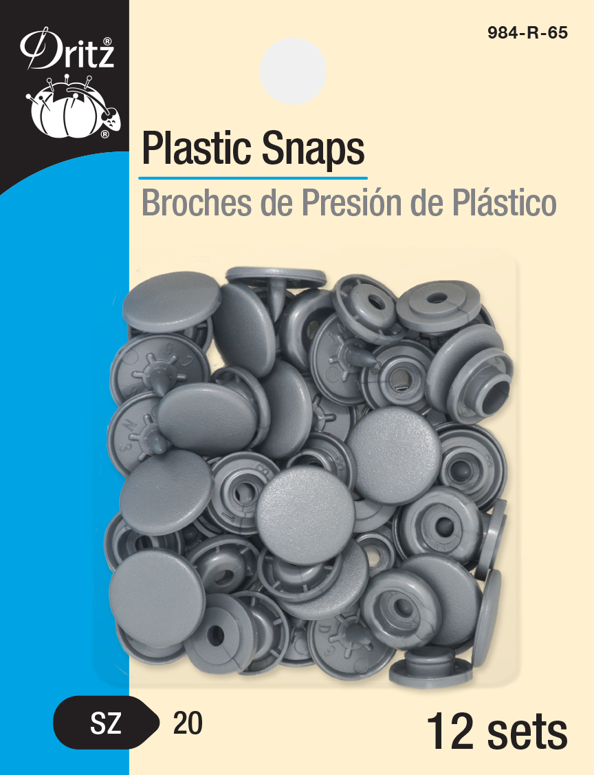 Plastic Snaps -- Size 20 Round (Silver)